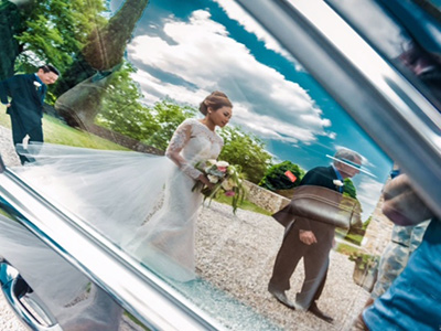 wedding car with driver